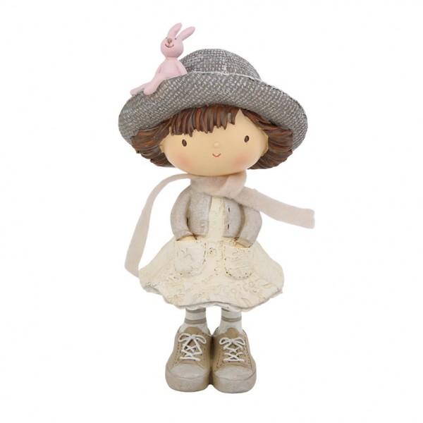 Mädchen mit Hut 10x8x19cm, Ve. 1 (#181405000)
