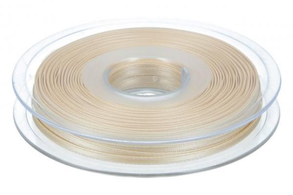 Satinband 3mm, 50m weißer Kaffee
