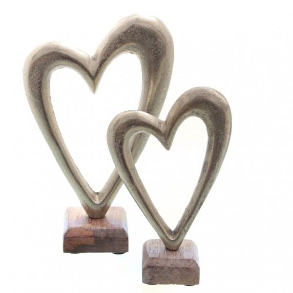 Herz auf Holzständer, 11x5x17,5cm, 1 St.