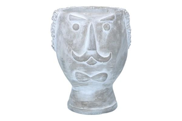 Topf 'Gesicht' Ø15cm Höhe 19cm, 1 Stück