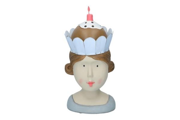 Lady mit Torte, Höhe 28cm, 1 Stück
