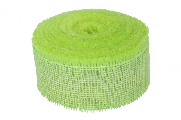 Jute Band 60mm, 25m, limone