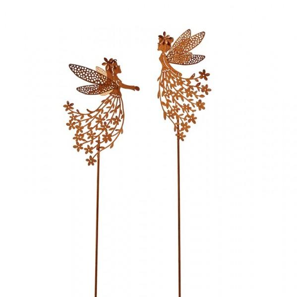Blumenkinder Gartenstecker, rost, L66cm (#153541000)