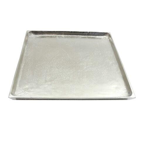 Tablett Alu quadratisch D25cm, 1 Stück