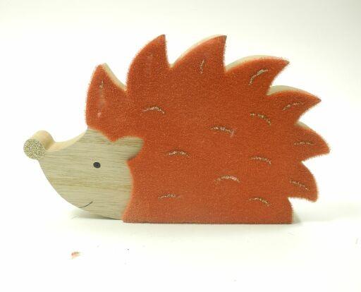 Igel aus Holz, 20 x 12cm, 2 Stück