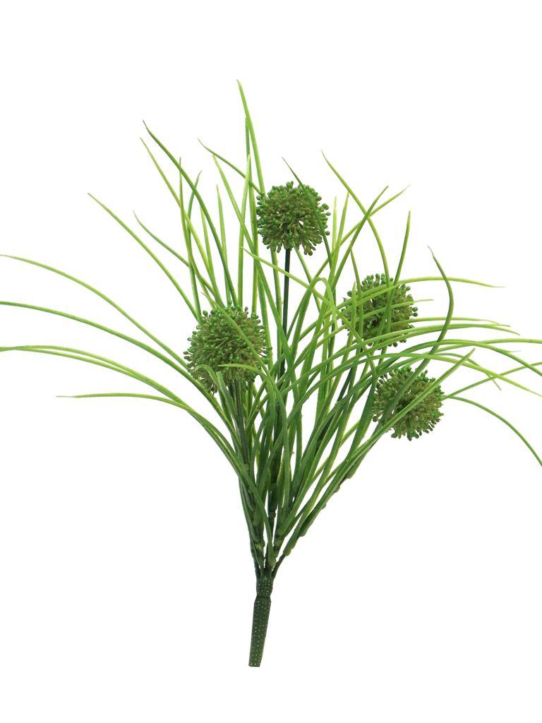Allium Busch mit Gras 39cm, Ve. 1 Stk