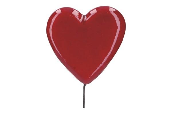 Kunststoff Herz auf Draht, 6,5 x 25cm