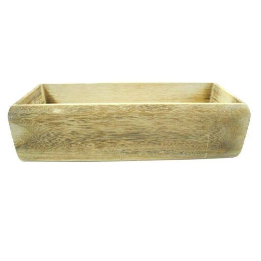 Holz-Korb mit Folie, 33x 12cm Höhe 9cm,