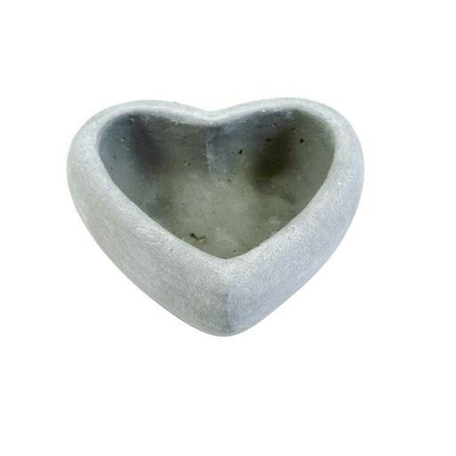 Herz Schale aus Zement D14,5 H5cm (#140228000)