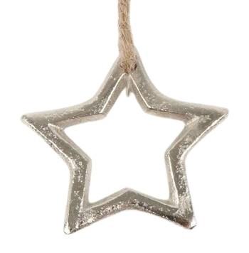 Stern auf Jutefaden D5cm, Ve. 1