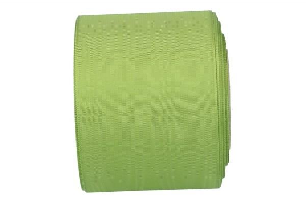 Moiré-Kranzband 75mm, 25m, grün
