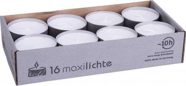 Maxiteelichter 58mm, 1 Pack = 16 Stück
