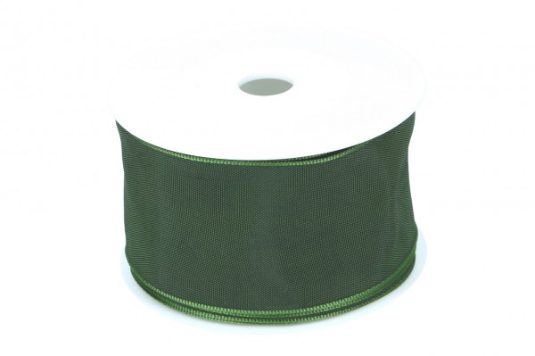 Formb. Drahtkantenband 60mm, dunkel grün