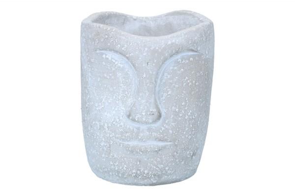Topf 'Gesicht' Ø12cm Höhe 15cm, 1 Stück