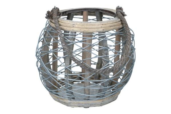 Laterne mit Glaseinsatz Ø19cm,Höhe 25cm, (#150552000)