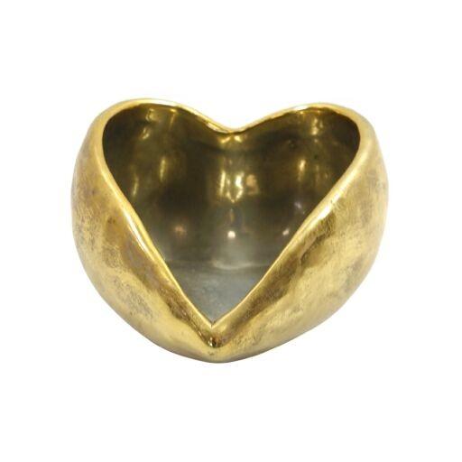 Herz z.Bepflanzen D12H8cm Gold Ve= 1 Stk