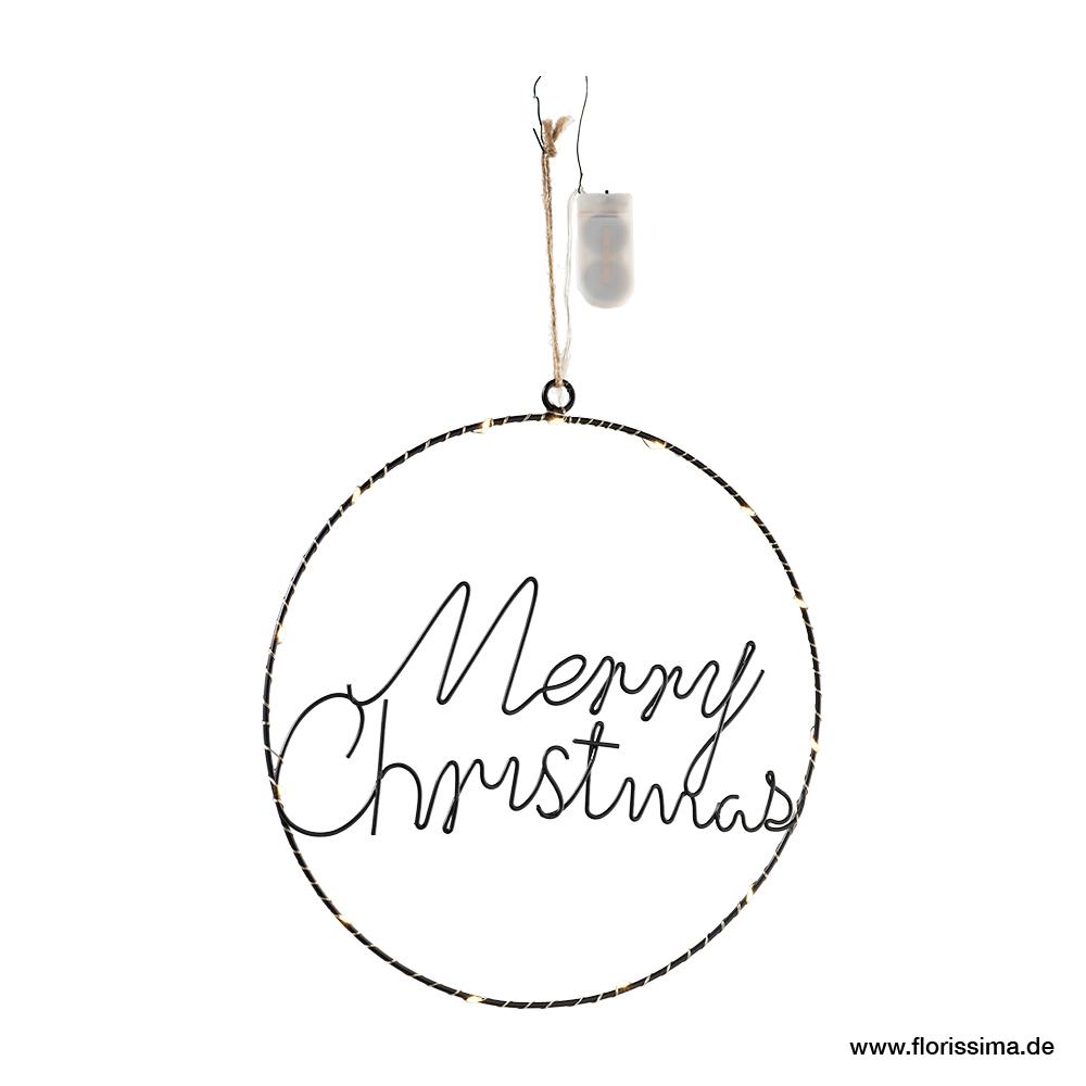 Ring Marry Christmas zum hängen mit LED  (#100597000)