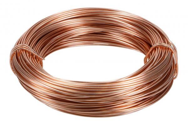Aludraht, 2mm, 60m Ring, 500gr. Kupfer