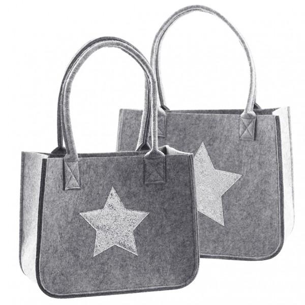 Tasche mit goldenem Stern 40 x 20 x 57cm