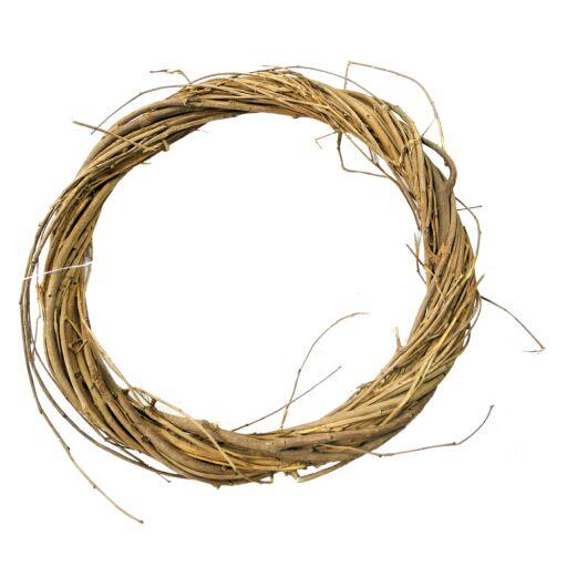 Kranz aus Weide dünn D50 H4,5cm, Ve.1Stk (#220298000)