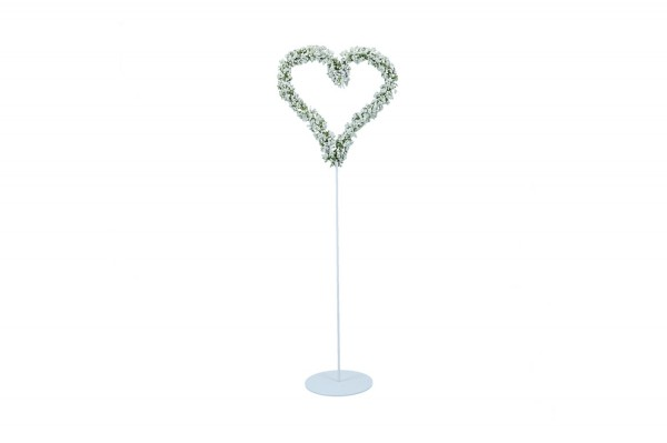 Gypso Herz auf Ständer, Höhe ca. 48cm