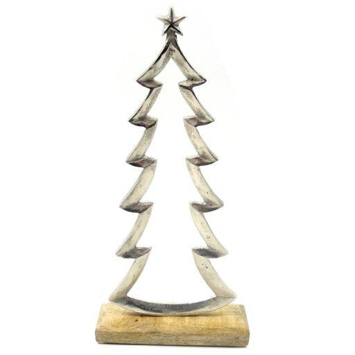 Tannenbaum Auf Holzfuß, 11x5x23cm