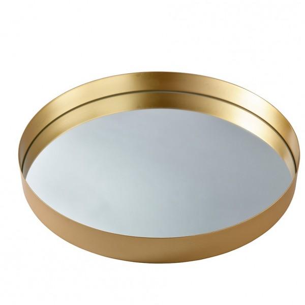 Metall Teller mit Spiegel Ø51 H 5cm,