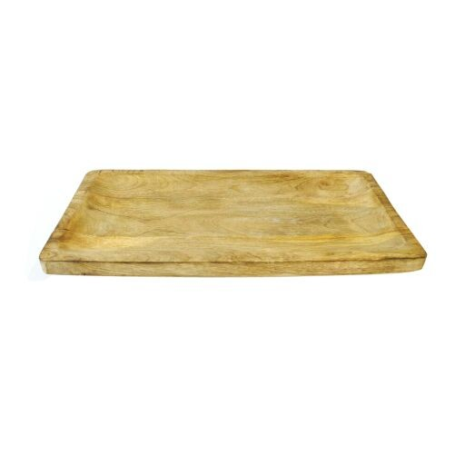 Holztablett rechteckig 40x20cm, 1 Stück