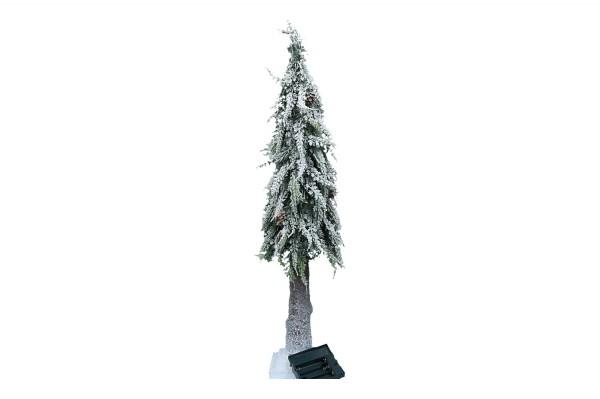 Bäume beschneit mit Zapfen & LED, H80cm