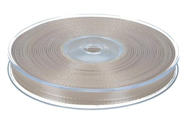 Dekoband Economy 10mm, 50m, braun-gold