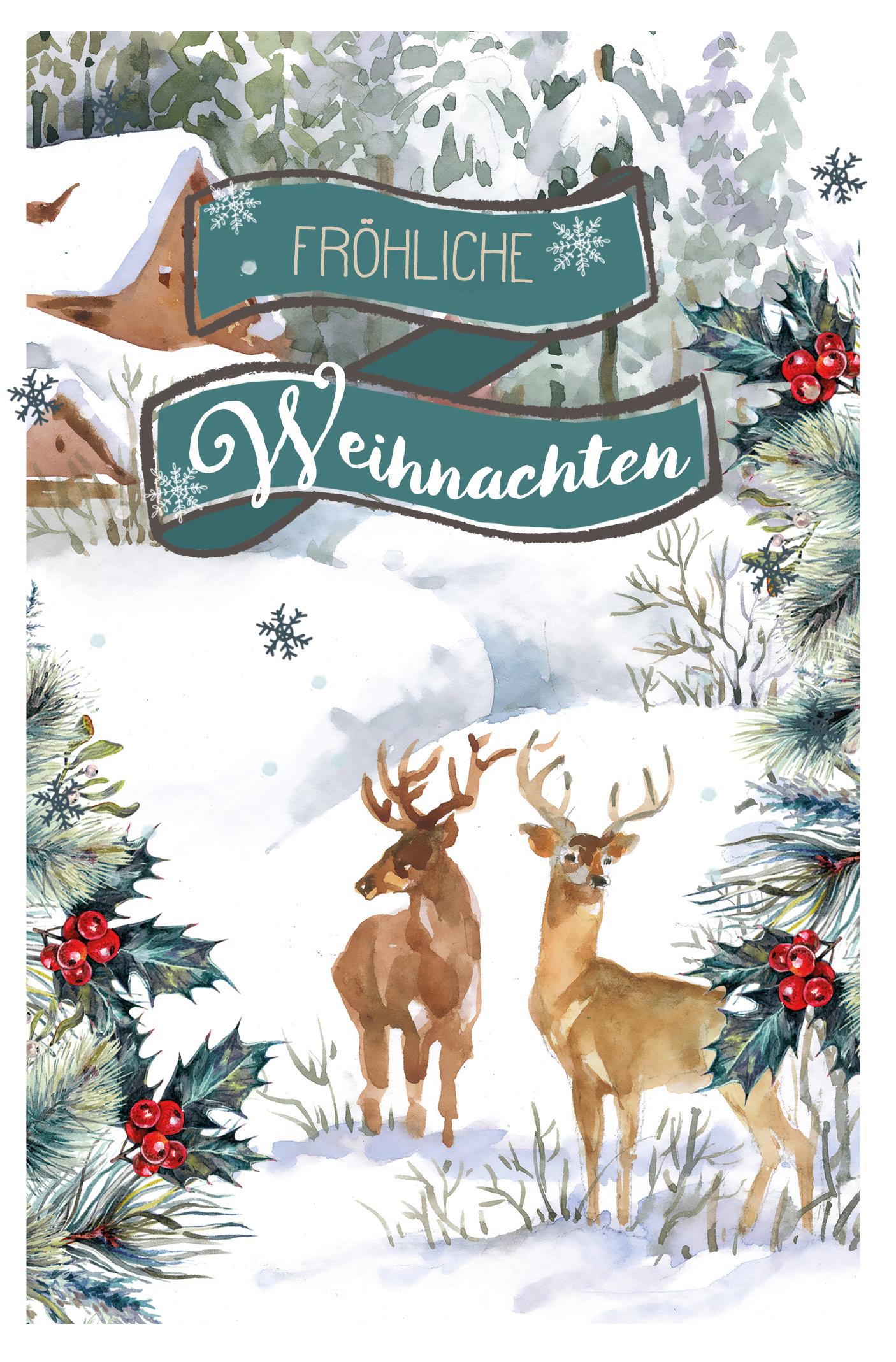 Fröhliche Weihnachten, 1 Pack = 5 Stück