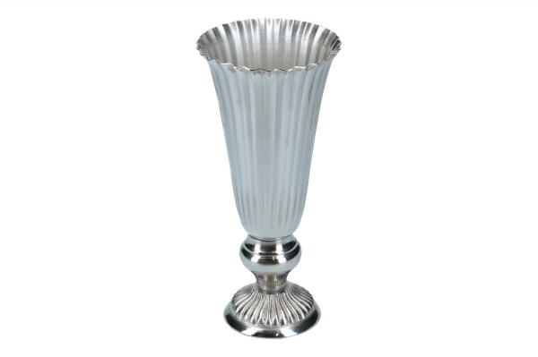 Vase Nickel, Ø 12cm, Höhe 25cm, 1 Stück
