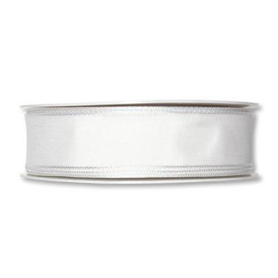 Formb. Drahtkantenband 25mm, 25m, weiss