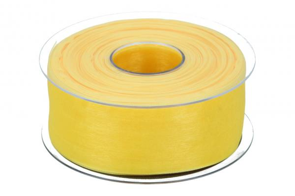 Beauty Organdy Band 40mm, 50m, gelb
