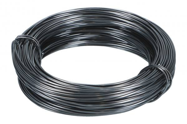 Aludraht 2mm, 60m Ring, Anthrazit