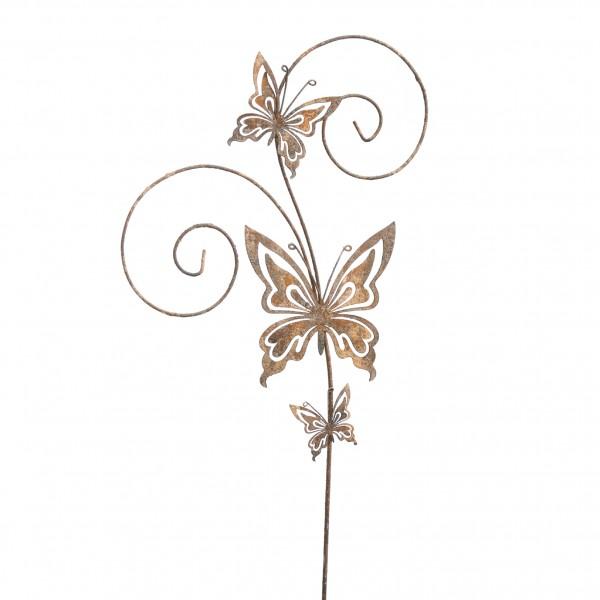 Gartenstecker Schmetterlinge 18,5 x 76cm