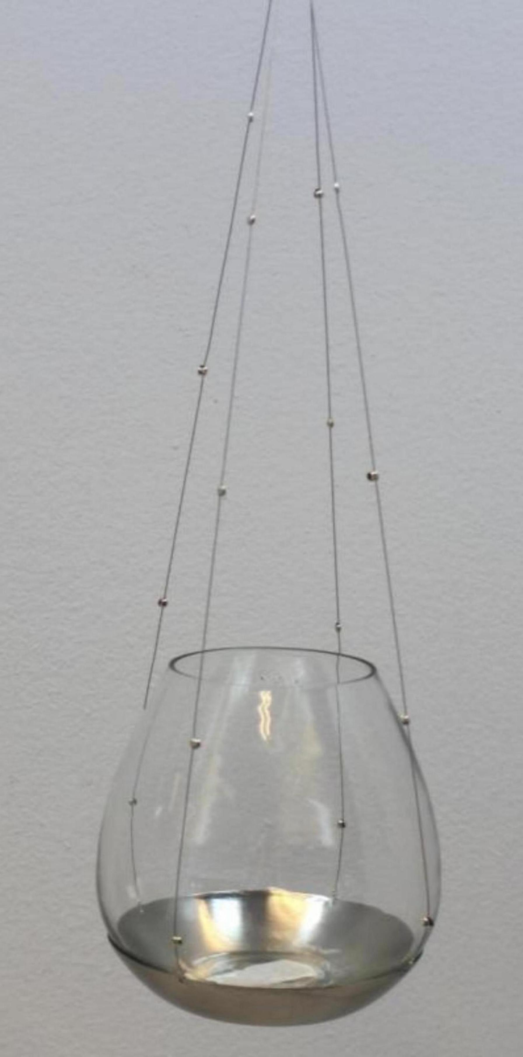Glas Teelicht-Hänger 12,5cm, Ve. 1Stk