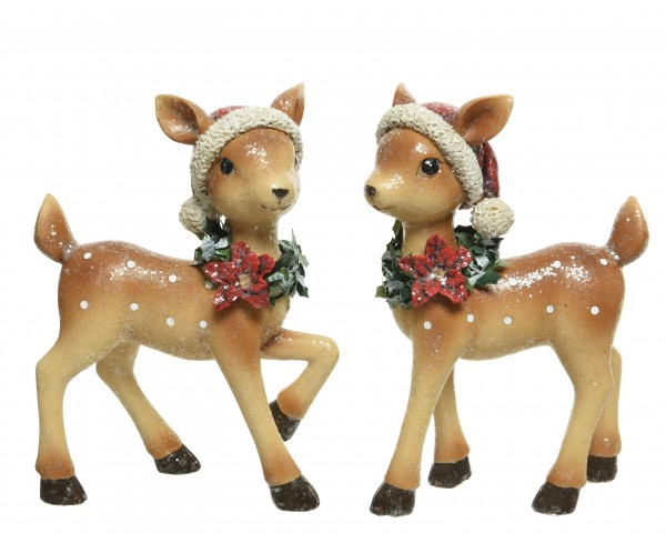Hirsch ' Santa' 14 x 7 x 20cm, 1 Stück