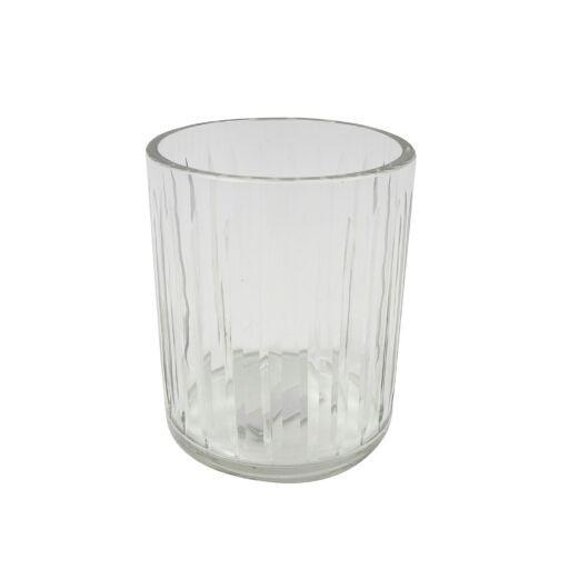 Windlichtglas Streifen D9 H11cm, 2 Stück