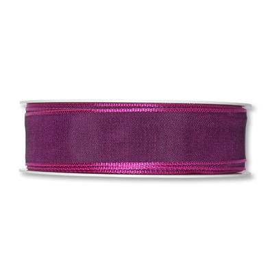 Formb. Drahtkantenband 25mm dunkel-lila