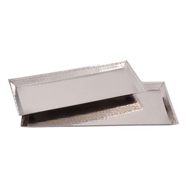 Tablett Alu 12,5 x 30cm, 1 Stück