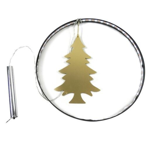 Ring mit Baum, LED mit Timer, Ø27cm, 1St (#100498000)