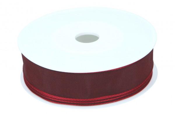 Formb. Drahtkantenband 25mm, dunkel rot