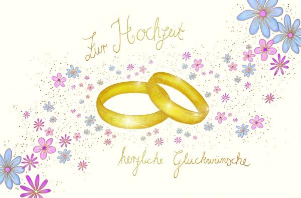 Zur Hochzeit herzliche Glückwünsche
