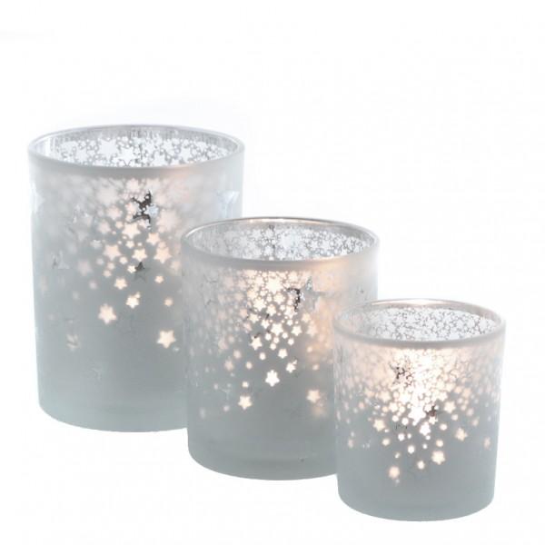 Teelichtglas 'Stern' Ø 10cm x H 12,5cm