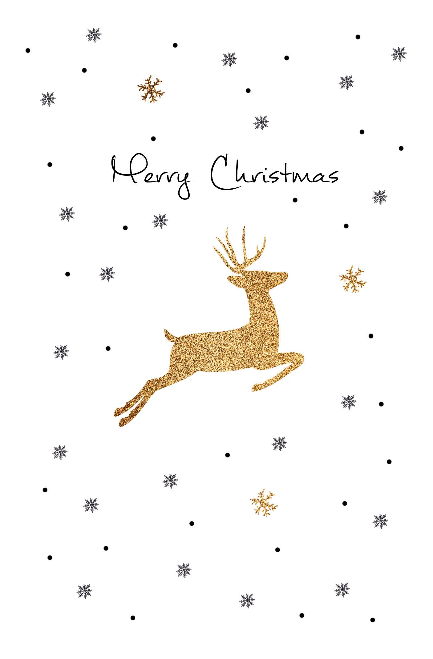Merry Christmas, 1 Pack = 5 Karten