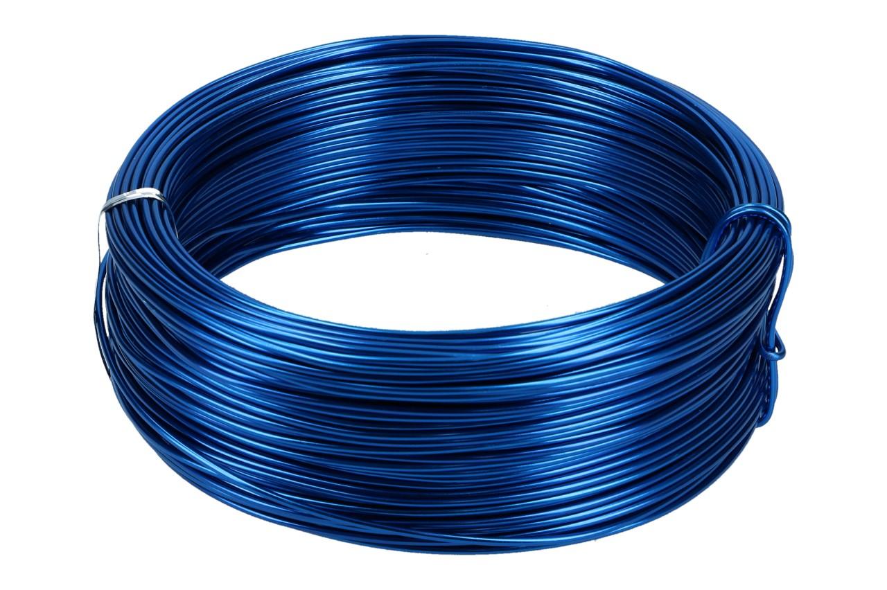 Aludraht 2 mm, 60 m Ring, 500gr. Blau
