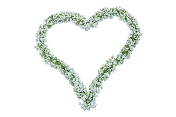 Gypso Herz 21cm, Farbe: weiß-grün
