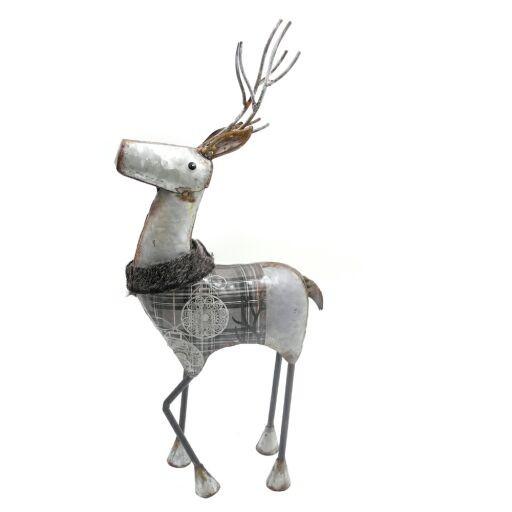 Hirsch mit Kragen, stehend, 19 x H 43cm