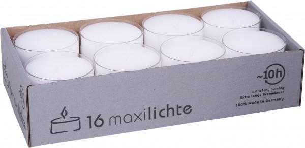 Maxiteelichter 56mm, 1 Pack = 16 Stück